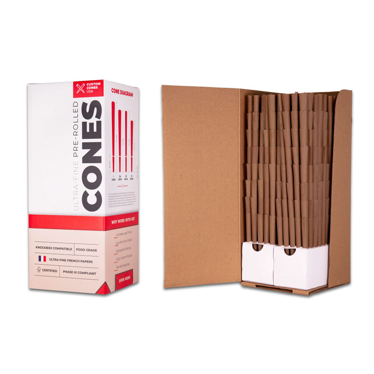 1 Gram Blunt Cones - Hemp Wrap [800 per box]