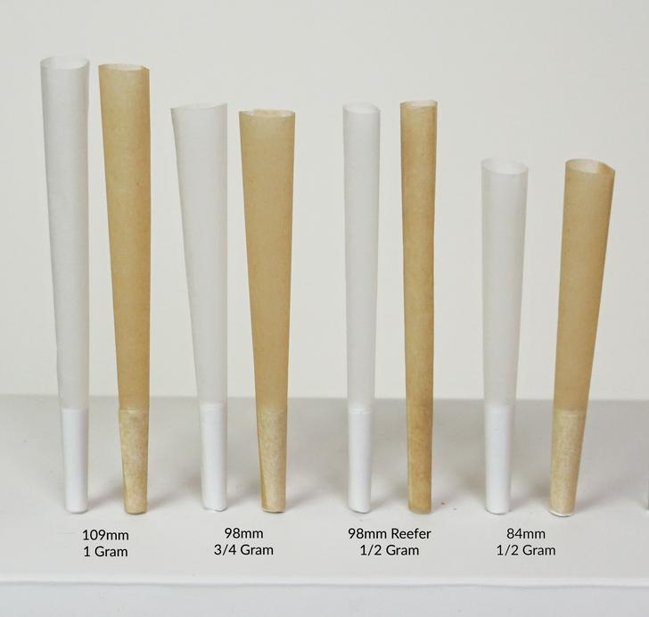 98mm Reefer Pre-Rolled Cones - Refined White [800 Cones per Box]
