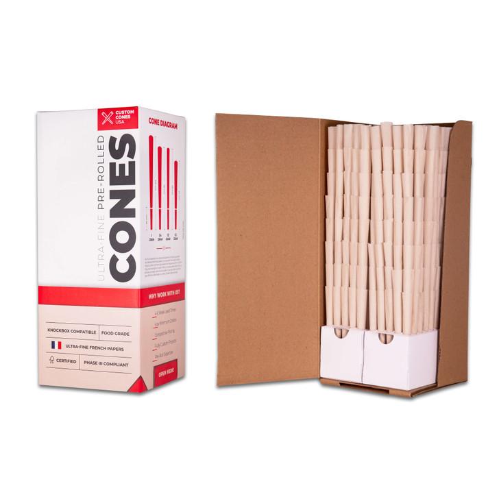 109mm Pre-Rolled Cones  - 100% Organic Hemp Paper [800 Cones per Box]