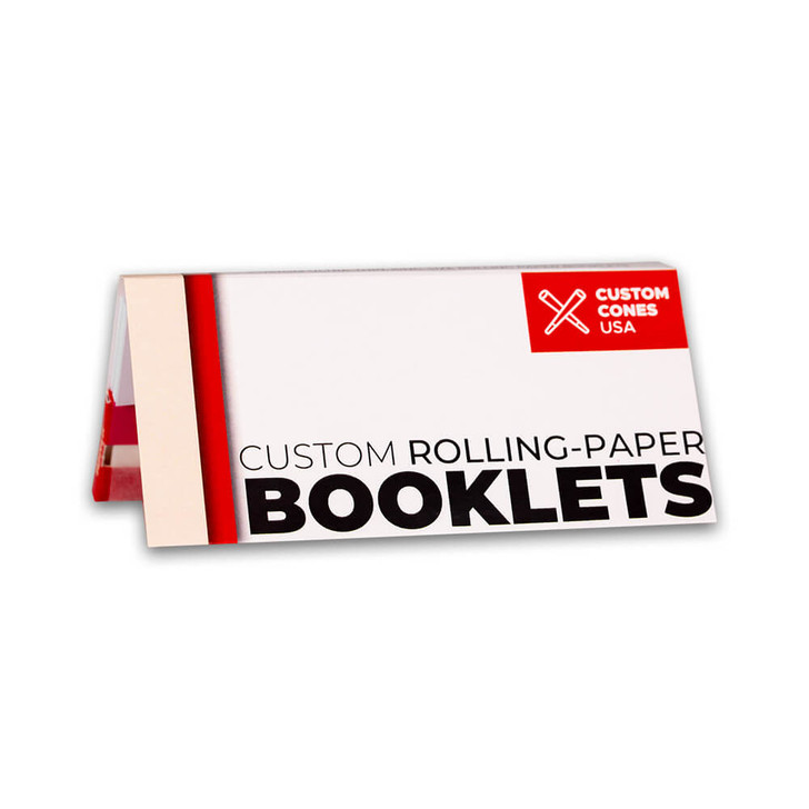King Size Slim Custom Branded Rolling Paper Booklet with Tips and Magnetic Closure