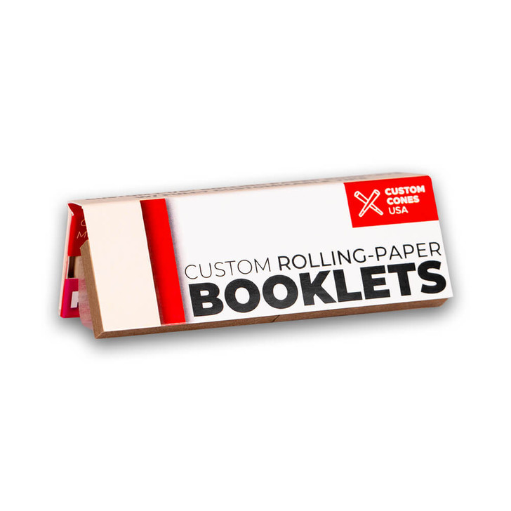 1 1/4 Inch Rolling Paper Booklet with Tips and Custom Branding