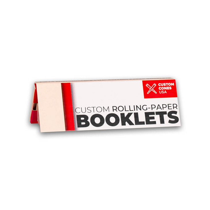 1 1/4 Inch Rolling Paper Booklet with Custom Branding