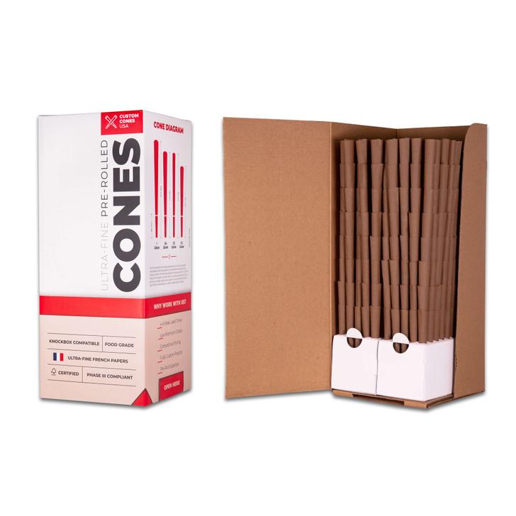 3/4 Gram Blunt Cones - Hemp Wrap [800 Cones per Box]