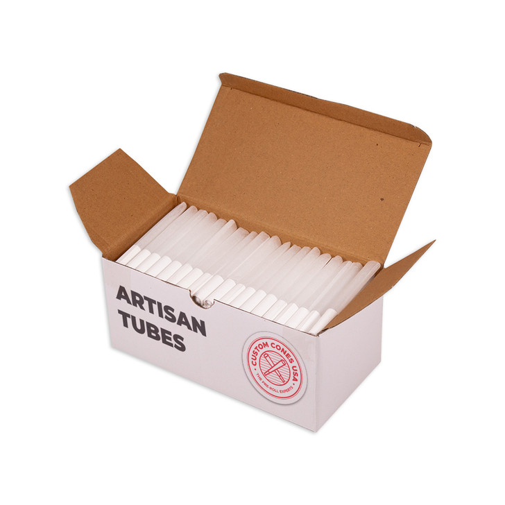 84mm Pre-Rolled Artisan Tubes - Spiral Tip - Refined White [200 Tubes]