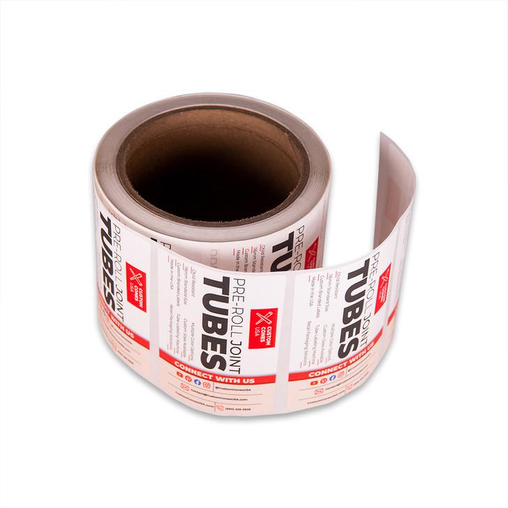 116mm Pre-Roll Tube Labels - Full Wrap