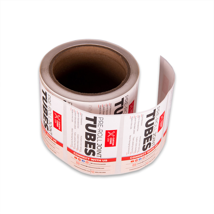 116mm Pre-Roll Tube Labels - Full Wrap