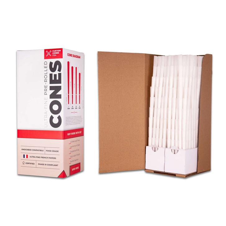 70/21mm Mini Pre-Rolled Cones - Dog Walkers - Refined White [1000 Cones per Box]