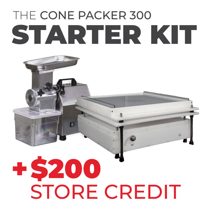 Cone Packer 300 Bundle | Pre-Roll Starter Kit - Filling Machine, Grinder, and $200 Store Credit