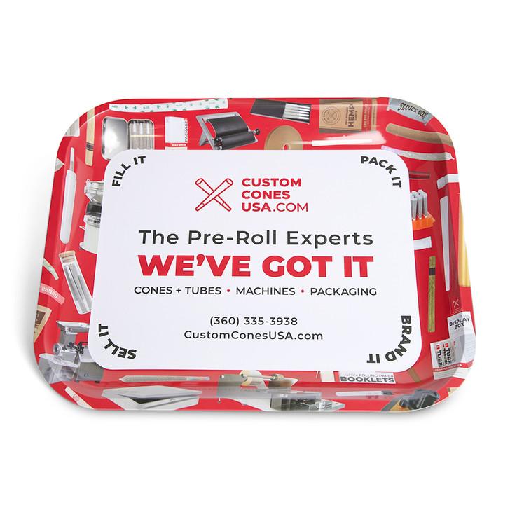 Custom Cones USA Branded Rolling Tray