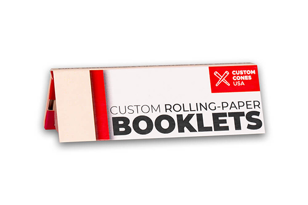 One and a Quarter inch custom rolling paper booklet