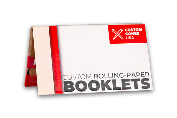 Custom branded One and a Quarter inch booklets with tips and magnets
