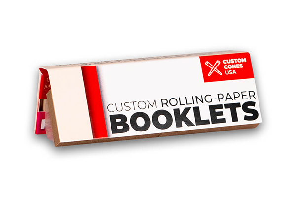 One and a quarter inch custom rolling paper booklets with tips