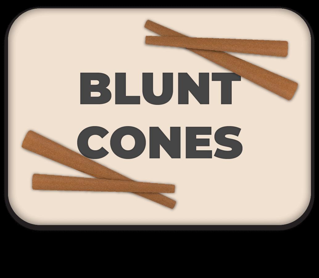 Blunt Cones Button
