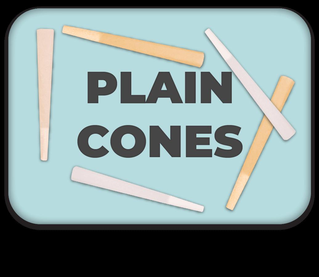 Plain Cones Button