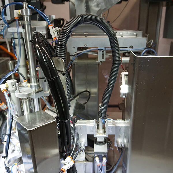 automated preroll machine tubes and wiring