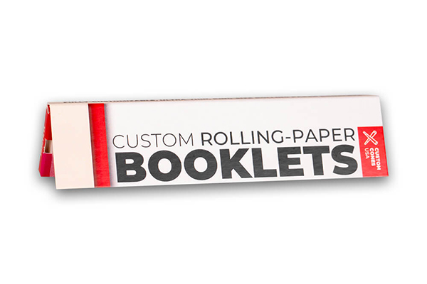King Size Slim custom rolling paper booklet