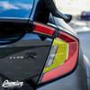 Tail Light Smoke Tint Insert Overlays | 2016-2019 Honda Civic Hatchback