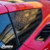 USA Window Flag Decal Corvette