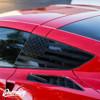 Satin Black USA Window Flag Installed on C7 Corvette