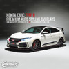 Trunk Fang Accent Vinyl Overlay - Gloss Black | 2016-2018 Honda Civic Type R