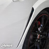 Rear Fender Vent Accent Vinyl Overlay - Gloss Black   2016-2018 Honda Civic Type R