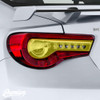 5 Heart Smoked Tail Light Inset Overlay (2017-2020 GT86 & BRZ)