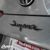 Carbon Fiber Rear Supra Badge Emblem Overlay (Choose Your Color)   2020 Toyota Supra