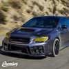 Headlight Face With C Light Cut out Smoke Tint Overlay | 2018+ Subaru WRX Limited / STI  with Steering Responsive Headlights Only