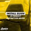 Rear Bumper Reflector with X - Cut Out Vinyl Overlay - Gloss Black | 2018-2021 Subaru Crosstrek