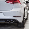 Rear Bumper Reflector Black Out Overlay - Gloss Black | 2018-2020 VW GTI & 2018-2019 VW GOLF R