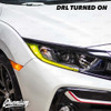 JDM Yellow Headlight DRL Tint Overlay | 2016-2020 Honda Civic Coupe