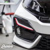 Front Bumper Fog Bezel Pinstripe (Choose Your Color) | 2020 Honda Civic Sedan Si / Coupe Si / Hatch / Type R