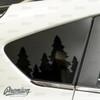 Treen line Rear Quarter Window Decal   2018-2021 Subaru Crosstrek