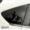 Full Mtn. Range Quarter Window Decal | 2018-2021 Subaru Crosstrek