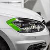 Headlight Amber Delete Vinyl Overlay - Gloss Black   2018-2020 Volkswagen Golf R