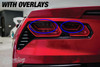 Smoked Tail Light Overlays (2014-2018 C7 Corvette)
