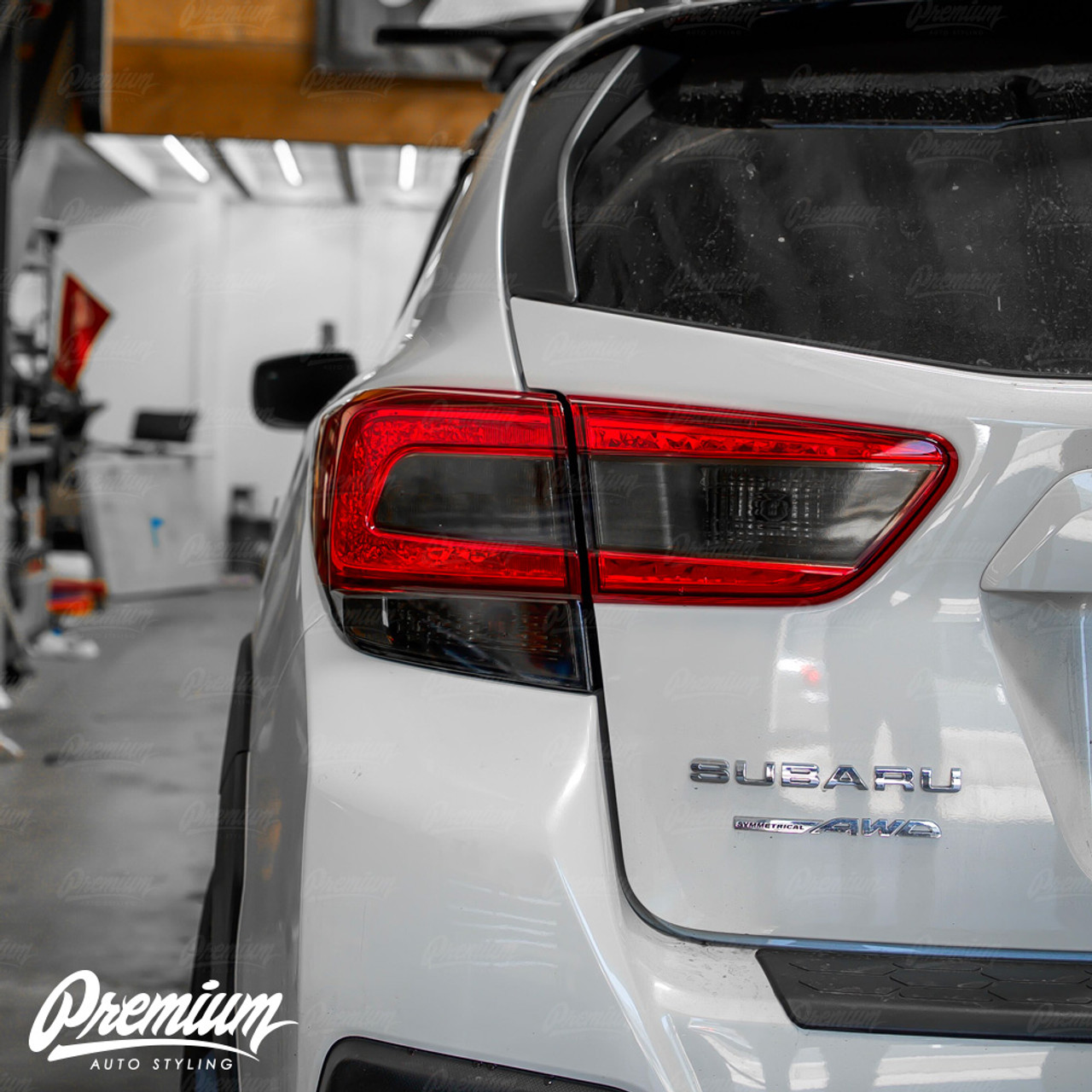 Tail Light Smoke Tint Overlay Kit Full Stealth V2 2018 2020 Subaru Crosstrek Xv Premium Auto Styling