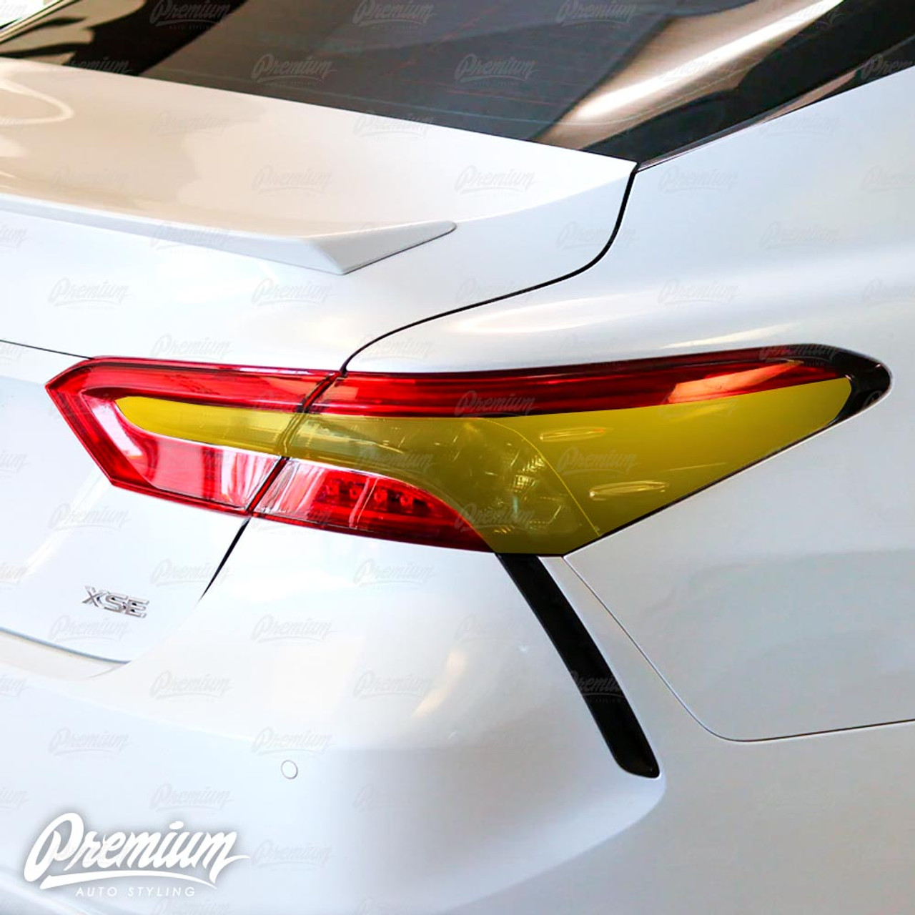 Cool Black Stickers Tail Light TailLamp Trim Set Fit For Toayota Camry 2018 2019