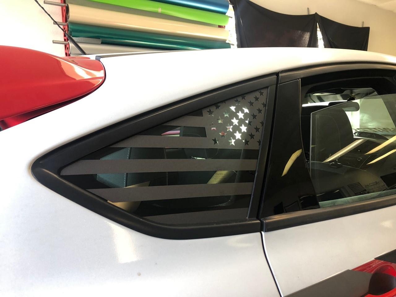 American flag quarter window decal 2013 2019 focus st premium auto styling