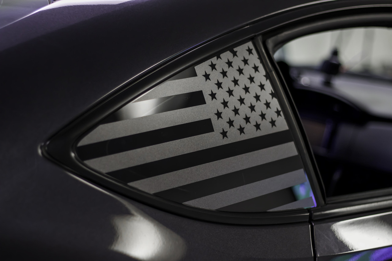 American Flag Sticker American Flag Car Stickers MIRROR