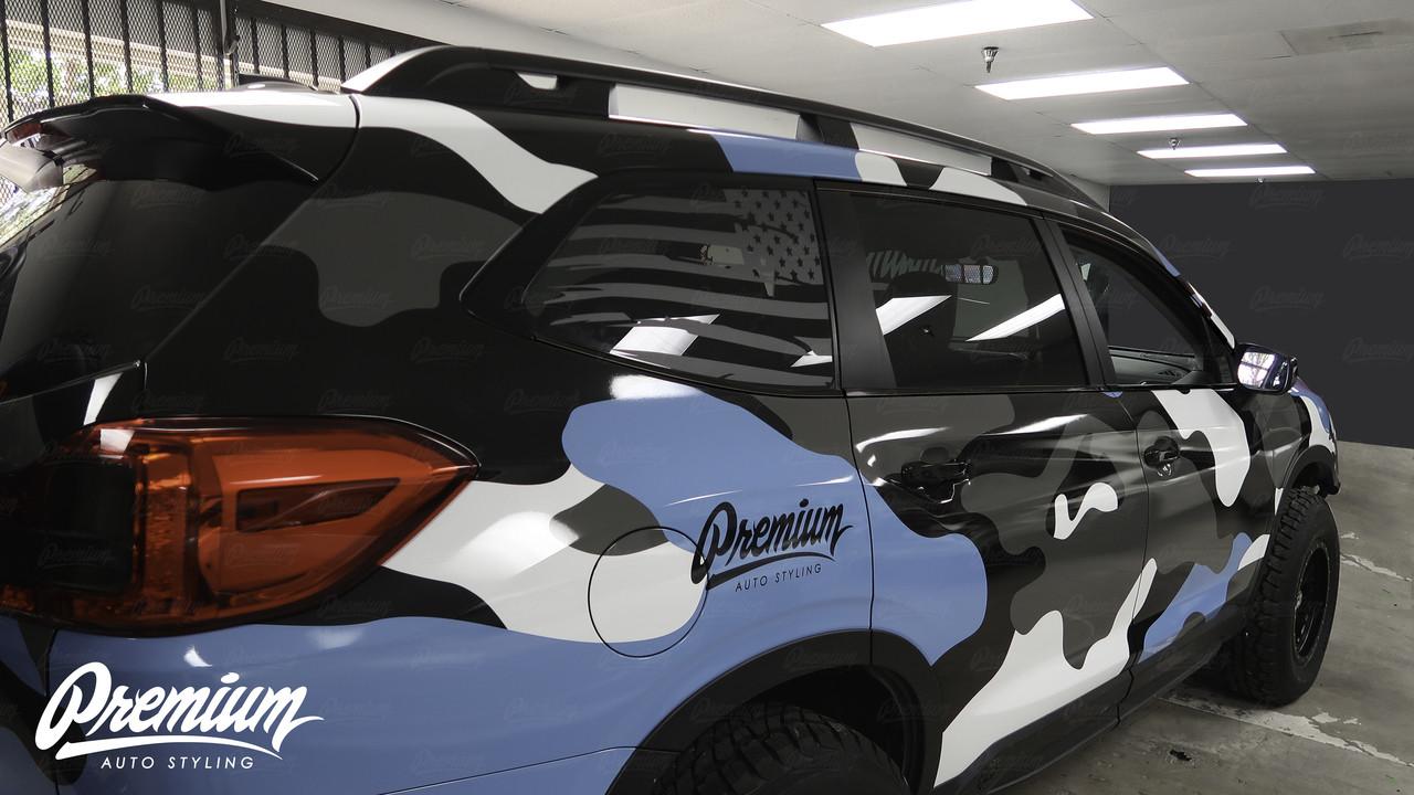 Window Trim Chrome Delete Kit - Gloss Black Vinyl   Subaru Ascent 2019