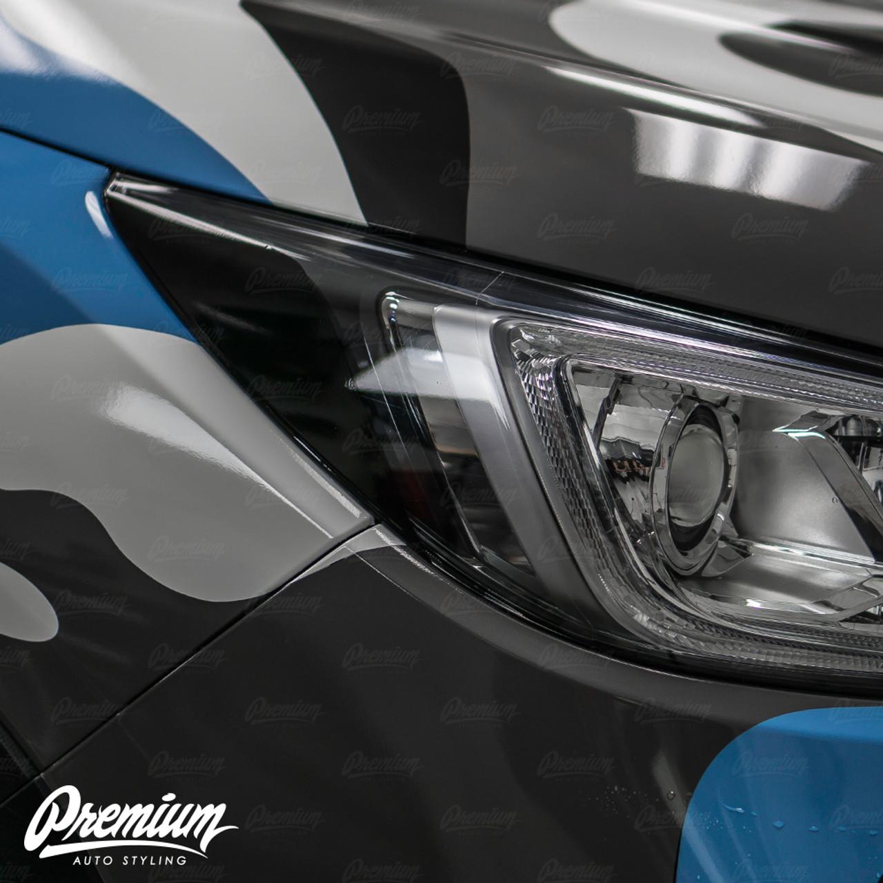 Headlight Amber Delete Overlay Gloss Black Vinyl 2019 Subaru