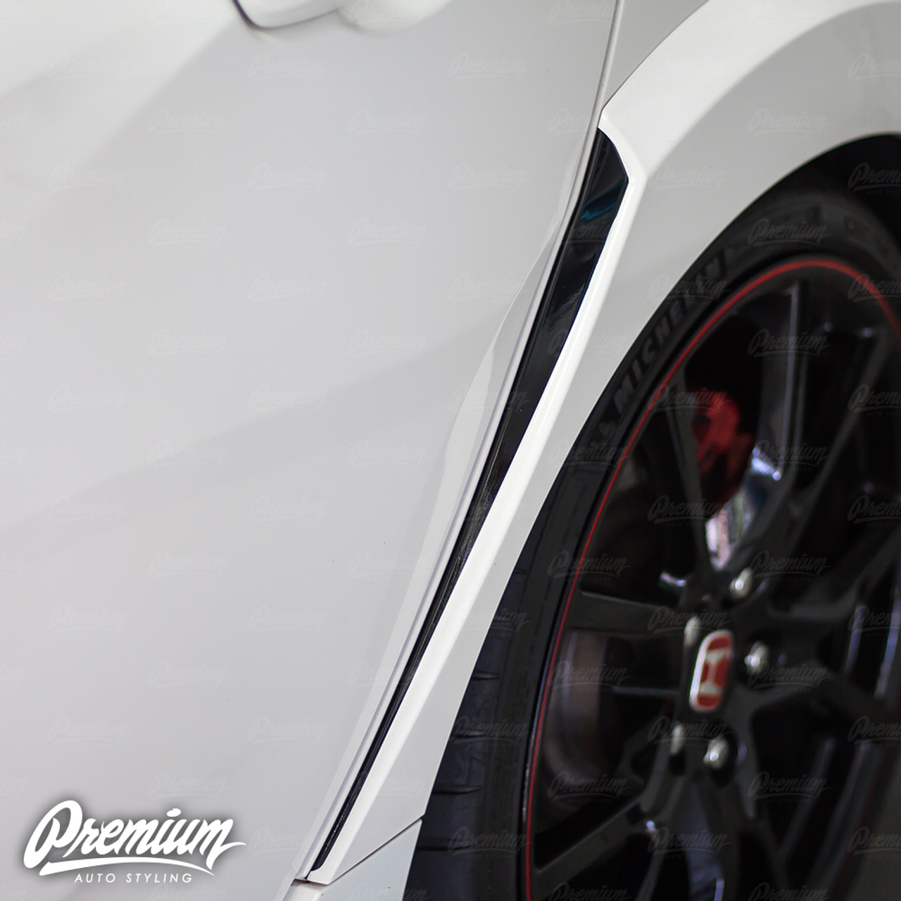 Rear Fender Vent Accent Vinyl Overlay - Gloss Black | 2016-2018 Honda Civic  Type R