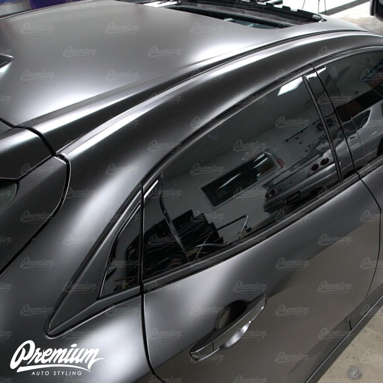 Window Trim Chrome Delete Vinyl Overlay Kit Satin Black 2016 2020 Honda Civic Hatchback Premium Auto Styling