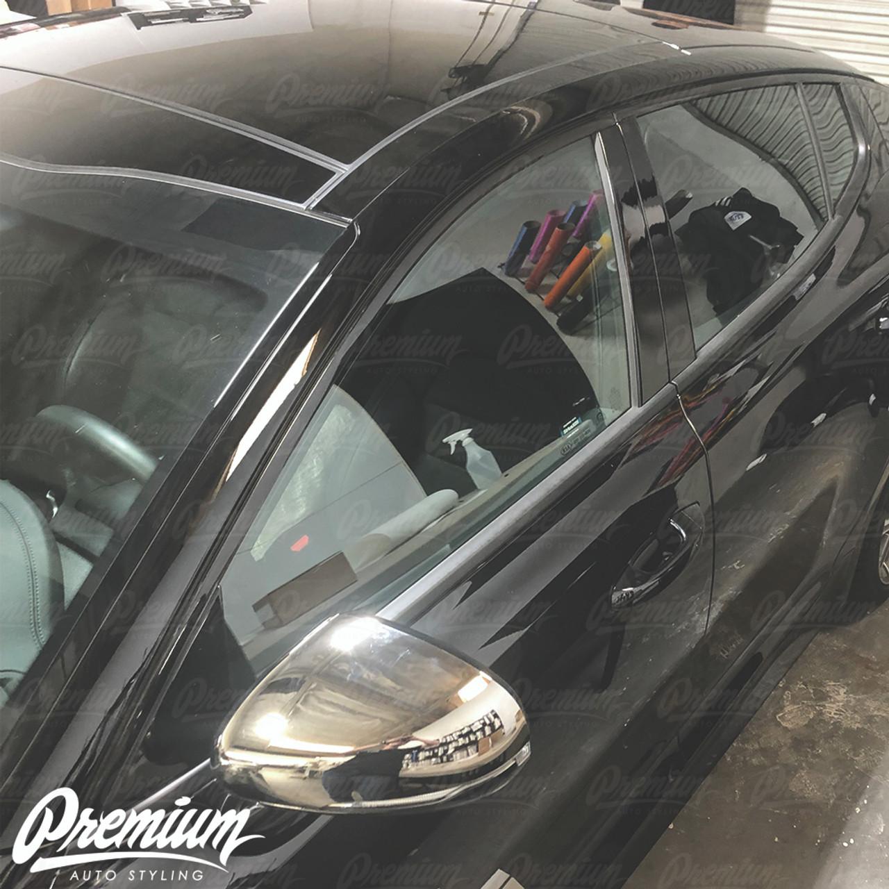 Window Trim Chrome Delete Vinyl Overlay Kit - Gloss Black | 2018-2019 Kia  Stinger GT