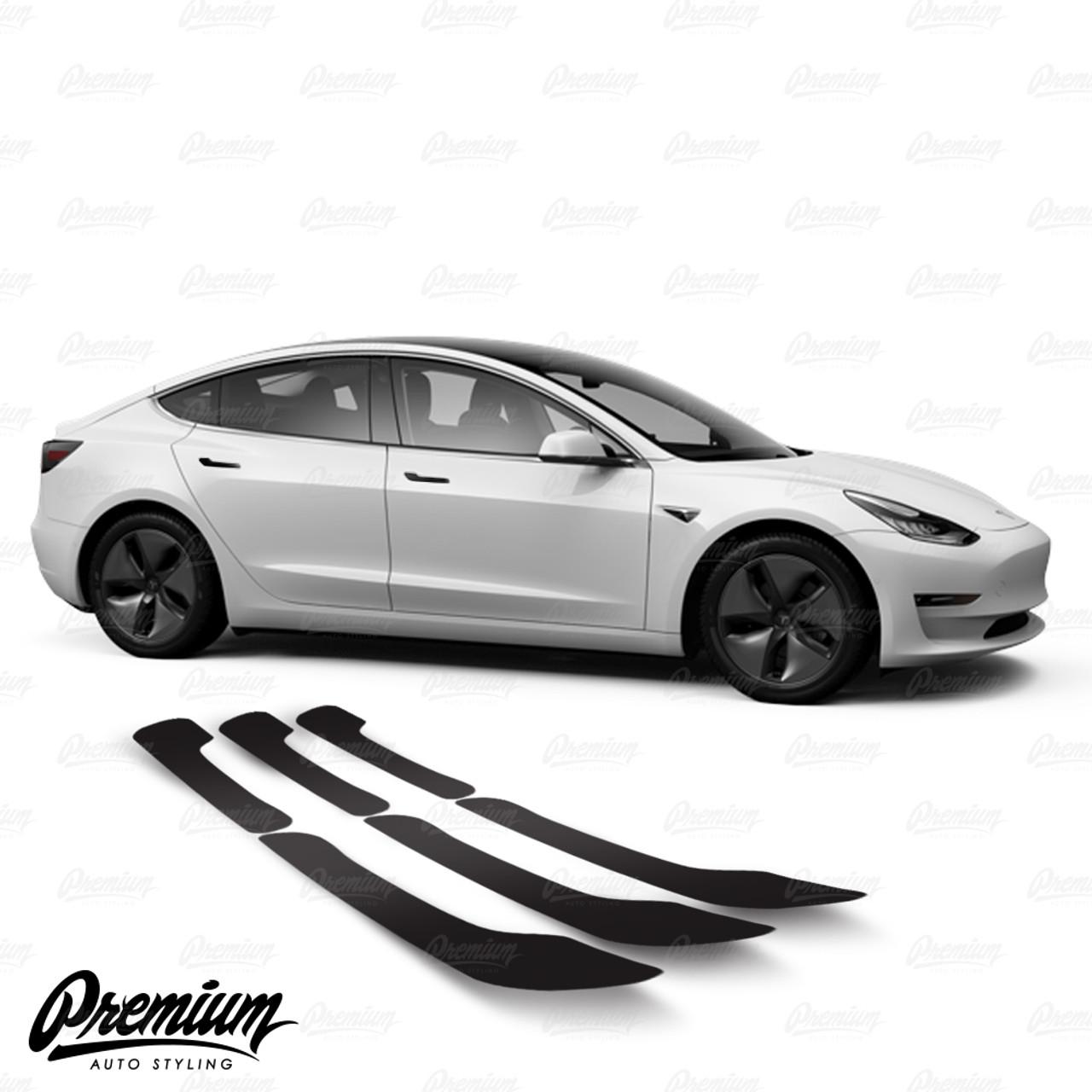 Flat Matte 4 Pcs Door Handle Overlay Chrome Delete Vinyl Kit Fit Tesla Model 3