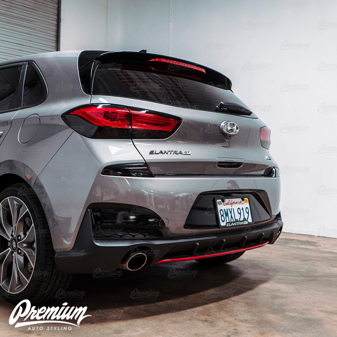pre cut smoked tail light tint 2020 hyundai elantra gt n line hatchback tail light smoke tint overlay 2020 hyundai elantra gt n line hatchback