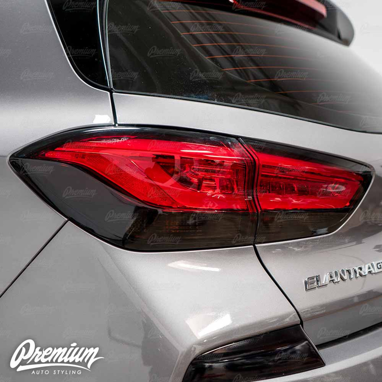 Pre Cut Smoked Tail Light Tint 2020 Hyundai Elantra Gt N Line Hatchback