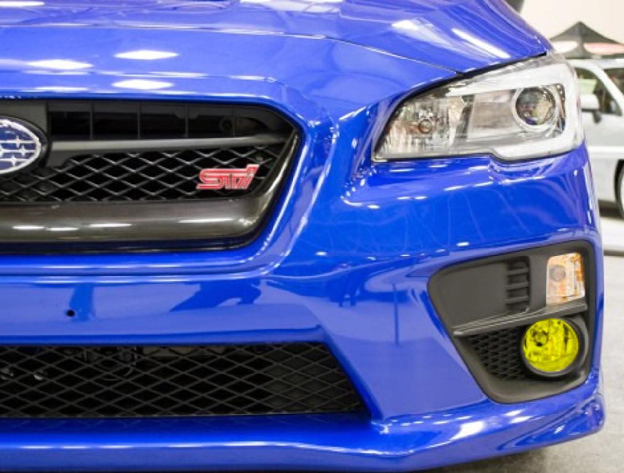 Fog Light Tint Overlay - Rally Yellow/Smoke | 2015-2018 Subaru WRX / STI
