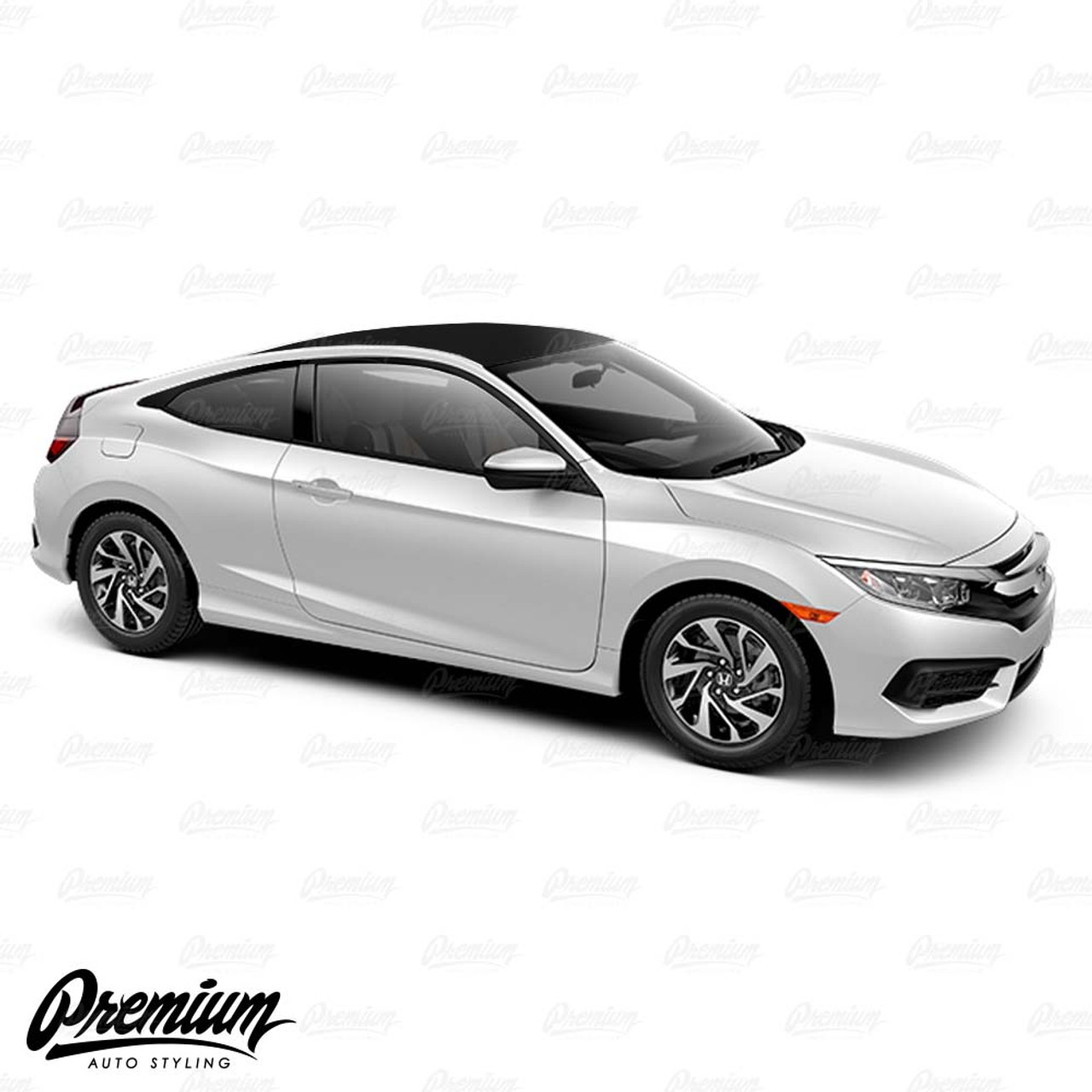Gloss Black Roof Wrap For 2016 2018 Honda Civic Coupe Premium Auto Styling